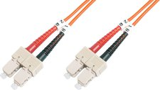 Assmann Digitus LWL Kabel Duplex SC/SC 50/125 OM2 2m