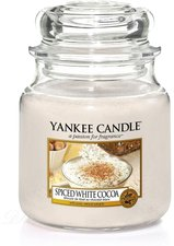 Yankee Candle Spiced White Cocoa Mittlere Kerze...