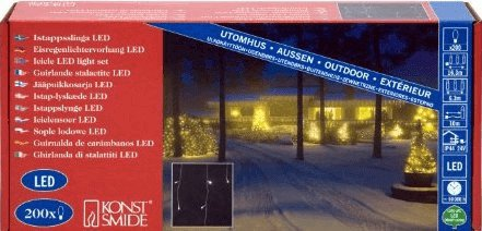 Konstsmide LED-Eisregen-Lichterkette (200 LED)