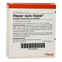 Heel Hepar Suis Injeele Ampullen (10 Stk.)