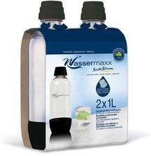 Wassermaxx Flaschen PET - 2 x 1 Liter - DUO-Pack