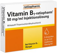 ratiopharm Vitamin B 1 Injektionslösung Ampullen (PZN 4908021)