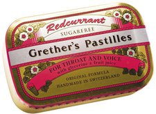 Baders Grethers Redcurrant+Vitamin C.Zf. Pastillen 110 g