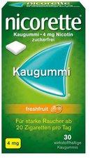 Pfizer Nicorette 4 Mg Freshfruit Kaugummi (30 Stk.)