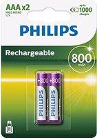 Philips 2x MultiLife 800mAh AAA / HR03