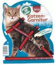 Trixie Katzen-Garnitur mit Leine, bestickt, Samt