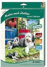 Mammut Malen nach Zahlen klein Classic Collection Hundefamilie