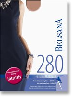 BELSANA Glamour 280den Strumpfhose kurz für Schwangere S schwarz