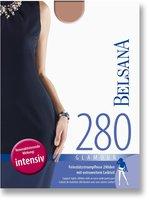 BELSANA Glamour 280den Strumpfhose kurz für Schwangere L nougat