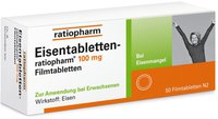 ratiopharm Eisentabletten 100 mg Filmtabletten (50 Stk.)